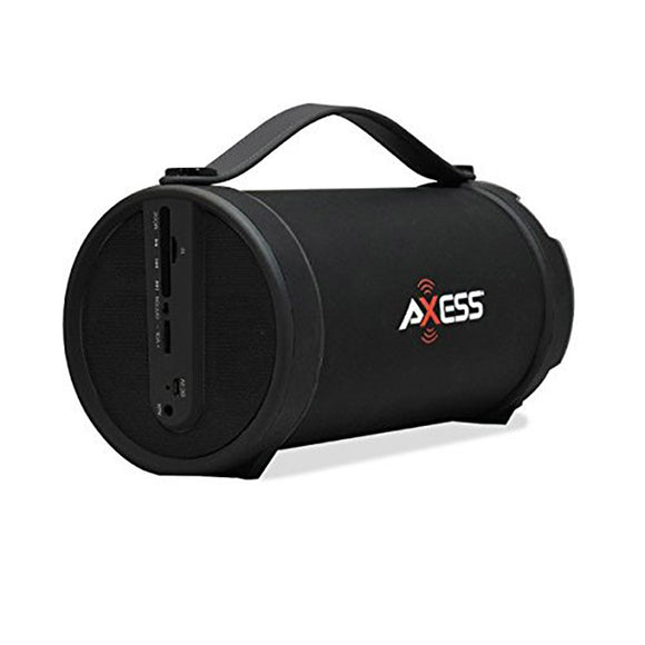Axess SPBT1033BK Black Portable Bluetooth Indoor Outdoor 2.1 Speaker