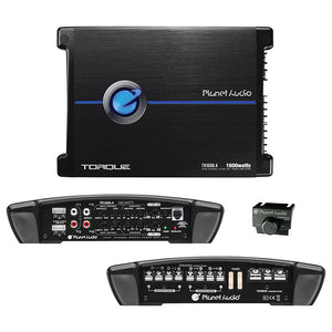 Planet Audio TR16004 Four-Channel Power Amplifier 400 Watts x 4 Max Power
