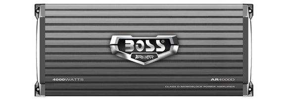 BOSS AUDIO AR4000D Armor 4000-Watt Monoblock, Class D 1-8 Ohm Stable Monoblock Amplifier with Remote Subwoofer Level Control