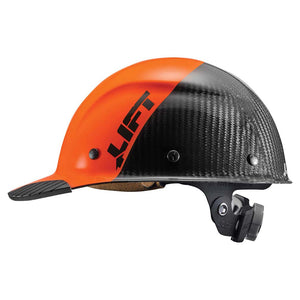 Lift Safety HDC50C19OC Dax Carbon Fiber Cap Brim 50-50 Orange/Black