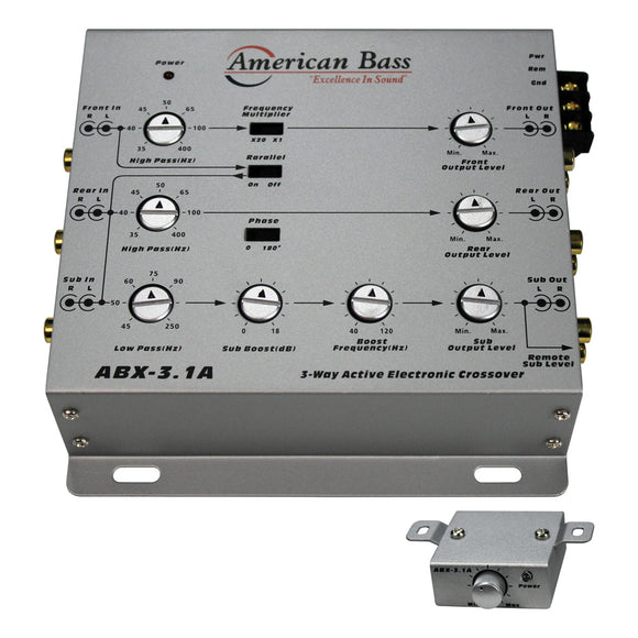American Bass ABX31A 3 Way Active Digital Crossover