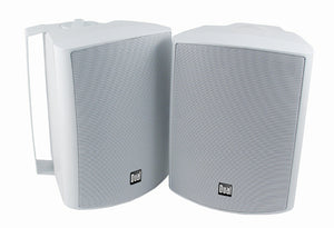 "Dual LU53PW 5.25"" 125 Watt 3 Way Indoor Outdoor White Speaker pair"