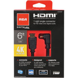 RCA DHH690SE HDMI Cable w/1 Right Angle Connector, 6ft