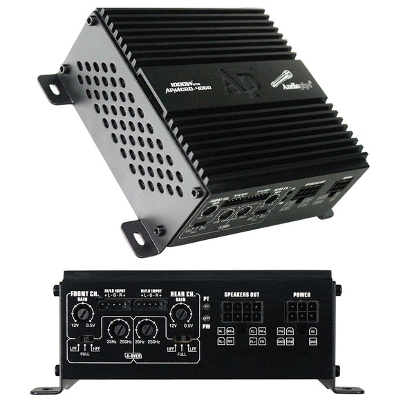 Audiopipe APMCRO4060 Micro 4 Channel Amplifier 1000W Max