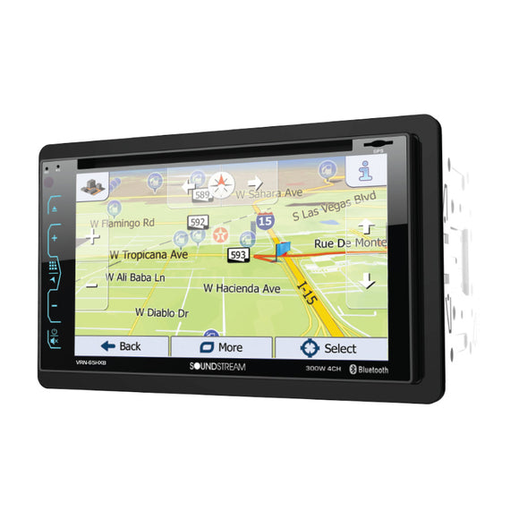 SoundStream VRN65HXB 2-DIN AptiX Source Unit w/ iGO GPS SXM Ready & 62