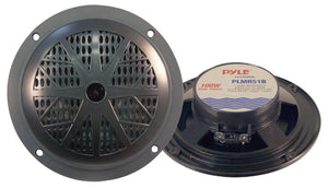 "Pyle PLMR51B 5.25""100 Watt 2 Way Marine Boat Speaker pair Black"