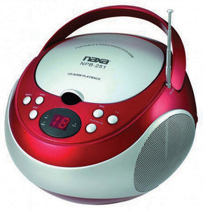 Naxa NPB251RD Portable CD Player with AM/FM Red(NPB251RE)