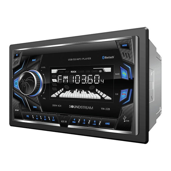 SoundStream VM22B 2-DIN Digital Audio Head Unit w/ 32GB USB SD AUX & Bluetooth