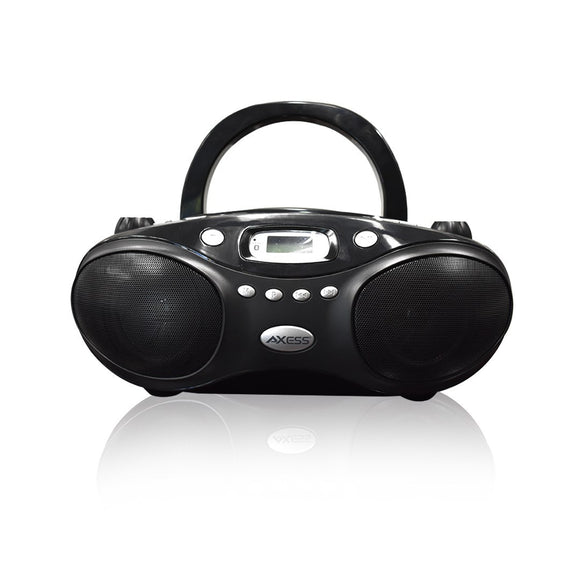 Axess PBBT3862 Portable Thunder Blast CD Bluetooth Boombox Black
