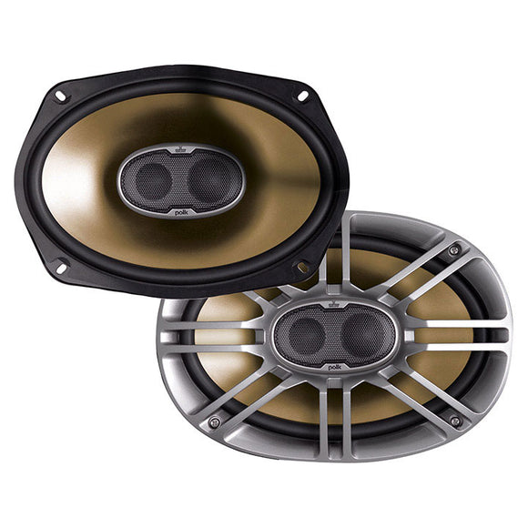 Polk Audio DB691 6-by-9-Inch 3-Way Speakers (Pair, Silver)