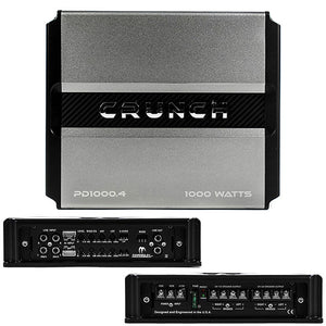 Crunch PD 1000.4 Power Drive Bridgeable Amplifier 1000 Watts Class Ab 4 ch