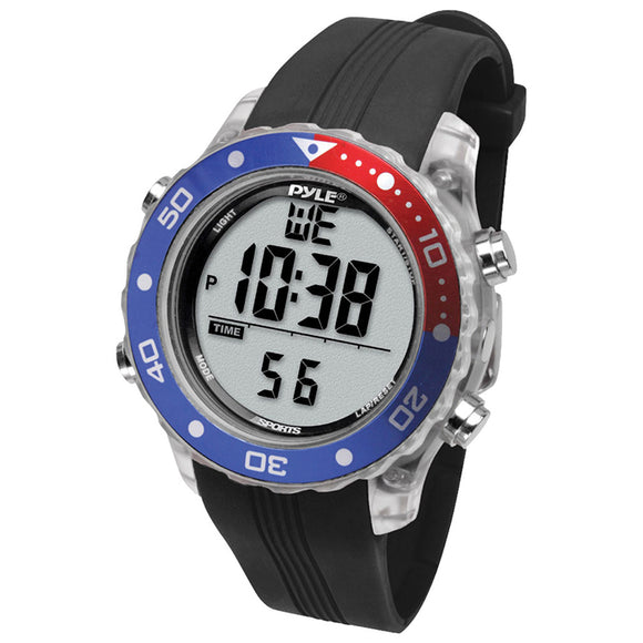 Pyle PSNKW30BK Snorkeling Master Sports Watch Black