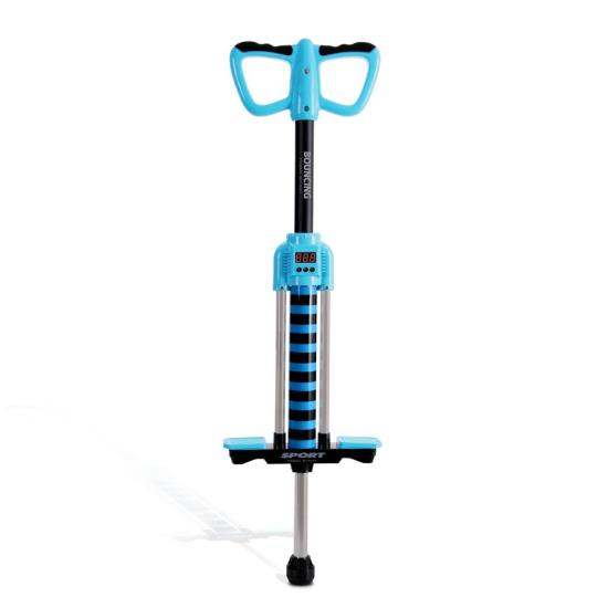 Blue Digital Pogo Stick - Bounce Counting Pogo Stick JPS04BL