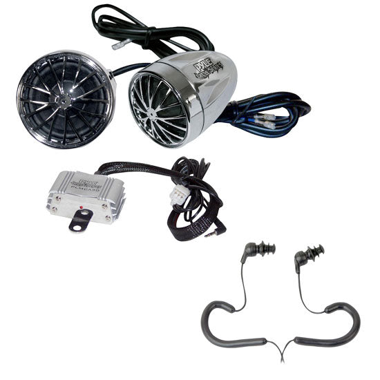 Pyle Mp3 Speaker Kit for Motorcycle ATV Scooter Boat Snowmobile 400w Amplifier