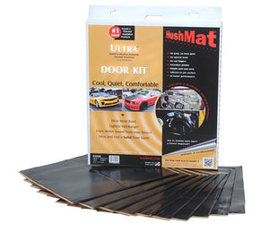 "HushMat 10200 Ultra Door Kit Black-ten 12""x12"" Sheets (10 sq. ft.)"