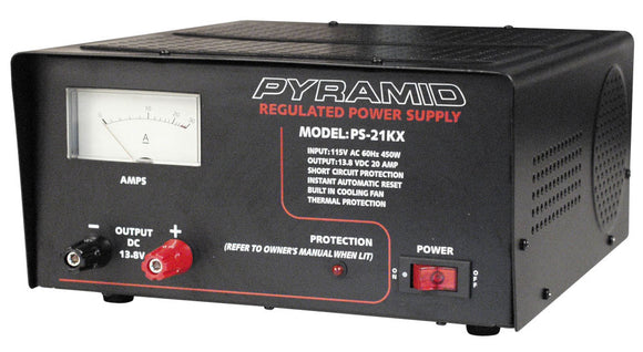 Pyramid PS21KX 20 AMP Power Supply with Cooling Fan