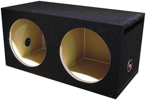 "Q Power SOLO102HOLE 2 hole 10"" Sealed Compact Subwoofer Box - 24""x12""x12"""
