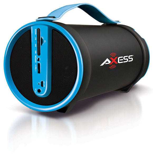 Axess SPBT1033BL Blue Portable Bluetooth Indoor Outdoor 2.1 Speaker