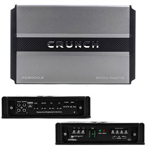 Crunch PD 2000.2 Power Drive Bridgeable Amplifier 2000 Watts Max Class Ab 2-channel