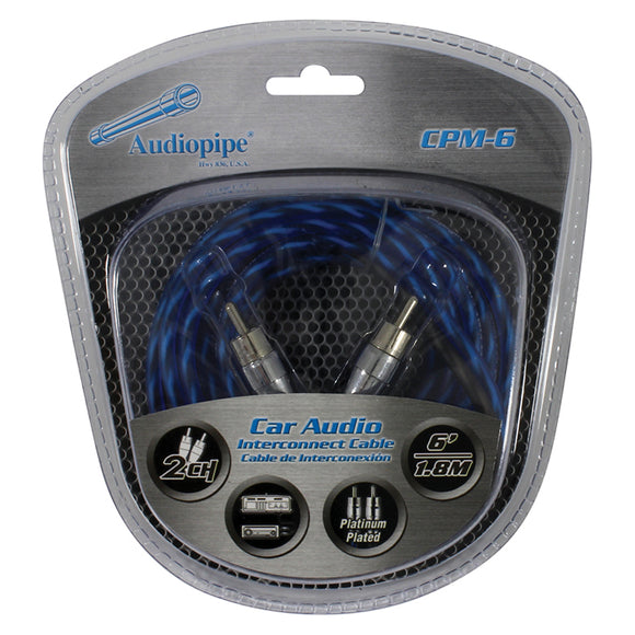Audiopipe CPM6 6 foot Platinum Plated Interconnect Cable