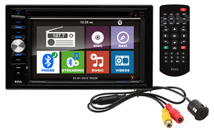 "Boss BVNV9384RC Double Din 6.2"" LCD Touchscreen With Back up Camera in 1 gift box"