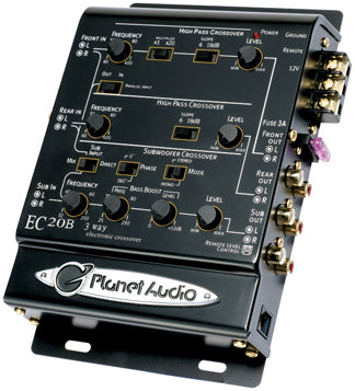 Planet Audio EC20B 3 Way Electronic Crossover