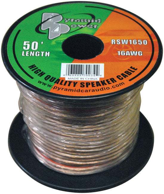 Pyramid RSW1650 50' foot ft 16 Gauge Speaker Wire