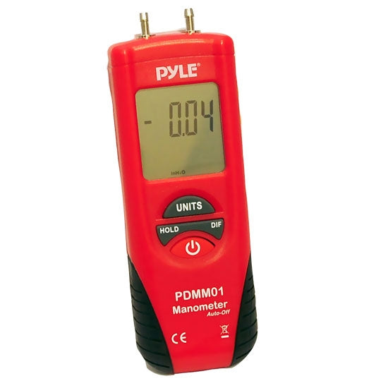 Pyle PDMM01 Digital Manometer Red/Black Color