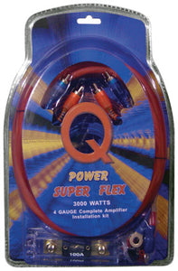 Qpower 4 Gauge Amp Kit Super Flex - 4GAMPKITSFLEX
