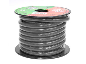 Pyramid RPB425 Ground Wire 4-Gauge, 25 Feet, Flexible, OFC Cable Wire (Black)