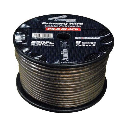 Audiopipe PS8BK 8 Gauge Flexible Power Cable Black 250 ft.
