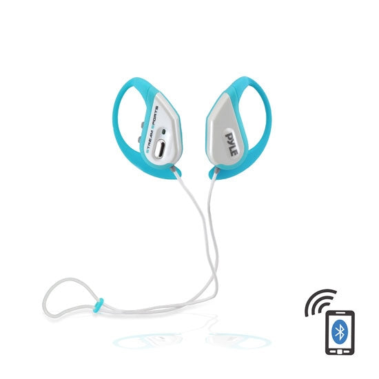 Pyle PWBH18BL Bluetooth Water Resistant Headphones Earbuds Blue