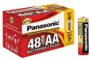 Panasonic Alkaline Size AA Plus Power 1 box = 48 batteries Blister Box