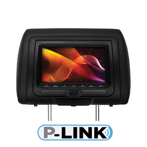 "Planet Audio PH7ACD 7"" Monitor in Headrest DVD USB/SD 3-color skins FM Modulated"