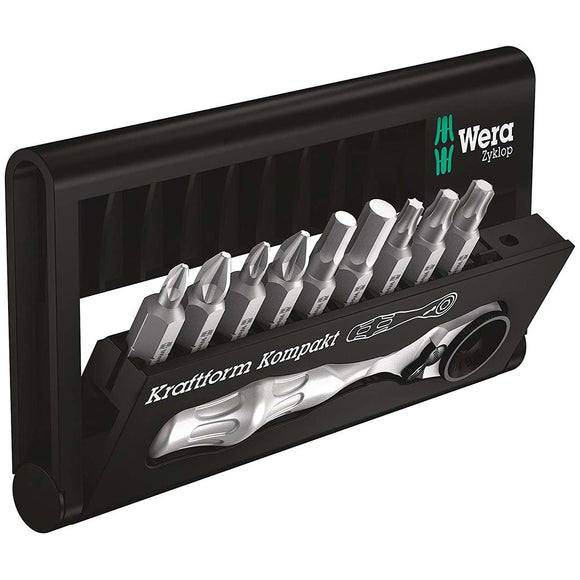 Wera 05073645001 Bit Set and Bit Ratchet (10 Pieces)