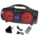 "Maxpower MPD554BZRD 5"" Portable Speaker Red Battery belt included"