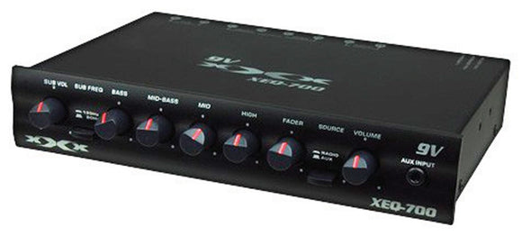 Audiopipe AUDIOP XEQ700 XXX 7 Band Graphic Equalizer with LED Power Meter & Subwoofer Output by Audiopipe
