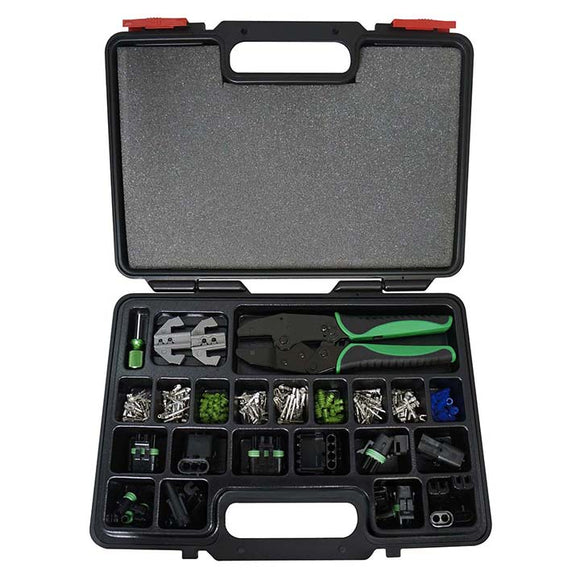 Astro 9478 Weather Pack Changeable Ratcheting Crimping Tool & Acc Set 220 Piece