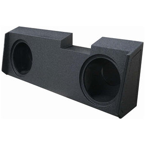 "Qpower QBGMC122019 Dual 12"" Sealed Woofer Box For 2019-2020 Gm Crew & Double Cab"