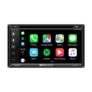 "SoundStream VRCP65 2-DIN 6.2"" LCD w/ Apple CarPlay Android DVD SXM & 6.2"" LCD"