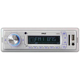 Pyle PLMR18 Stereo Radio Headunit Receiver, Aux (3.5mm) MP3 Input, USB Flash & SD Card Readers, Remote Control, Single DIN