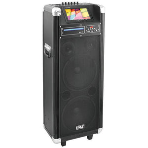 "Pyle Pro PKRK210 10"" x 2 portable PA Speaker with DVD 7""screen"