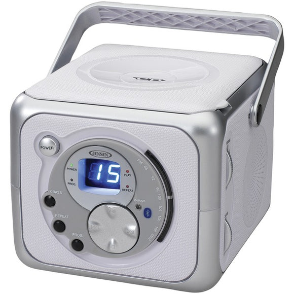 JENSEN CD-555A Portable Bluetooth Music System with CD Player