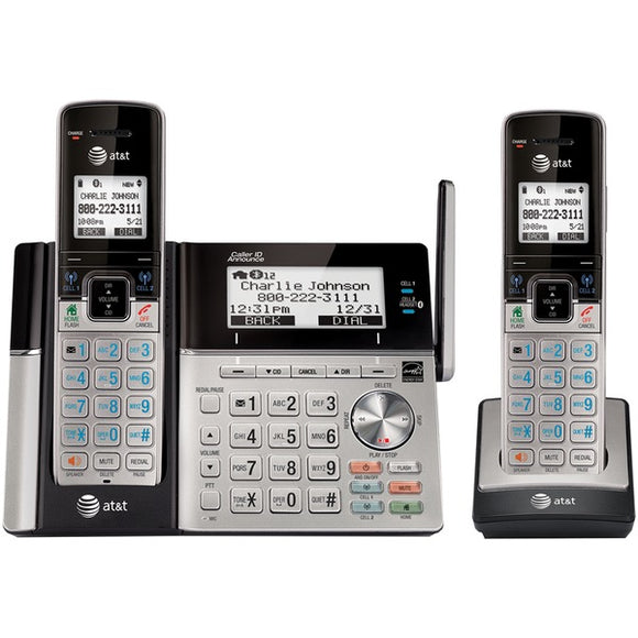 AT&T TL96273 DECT 6.0 Connect-to-Cell 2-Handset Phone System w/ Dual Caller ID