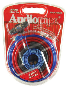Audiopipe Pk2100x 2100w 4 Gauge Amplifier Amp Wiring Kit 2100 Watt Pk-2100x