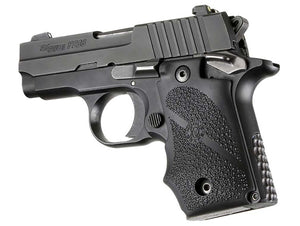 Hogue 38080 Sig Sauer P238 Ambi Safety Rubber Gripfinger Grooves