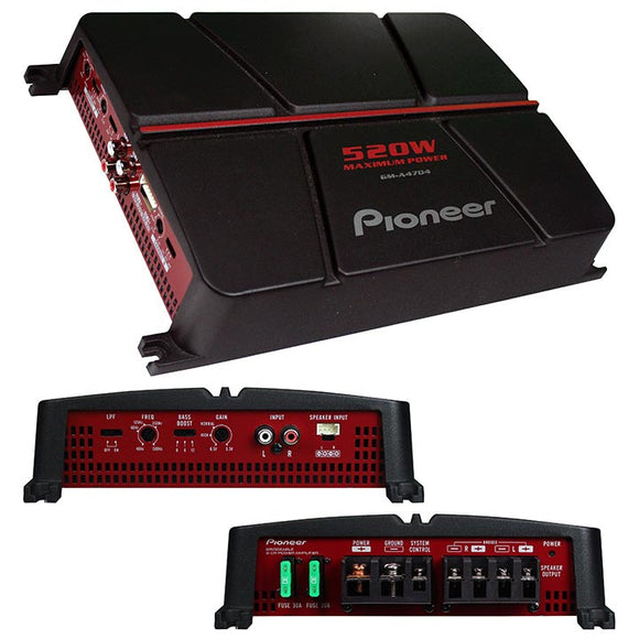 Pioneer GMA4704 520 Watt Max 4 Channel Amplifier