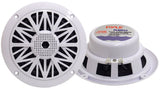 Pyle Dual 5.25'' Water Resistant Marine Speakers, 2-Way Full Range Stereo Sound, 150 Watt, White (Pair)