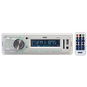 Pyle PLMR88W AM/FM-MPX IN-Dash Marine MP3 Player/USB & SD Card Function