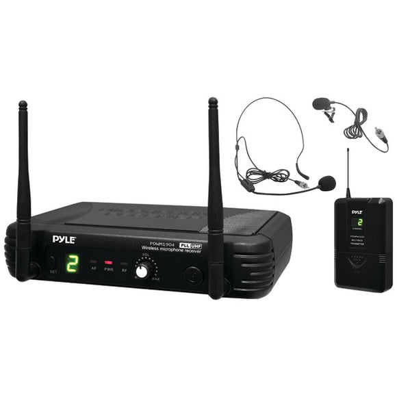 Pyle PDWM1904 Premier Pro UHF Wireless Body-Pack Transmitter Microphone System